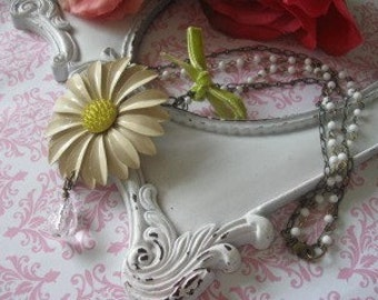 Sunny Day...vintage assemblage necklace