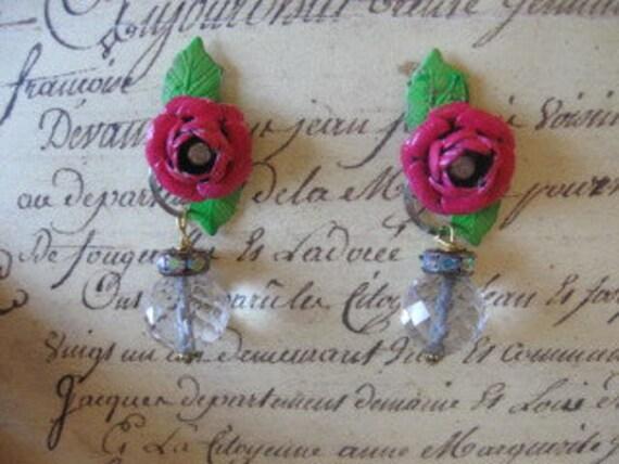 Lipstick Roses vintage assemblage