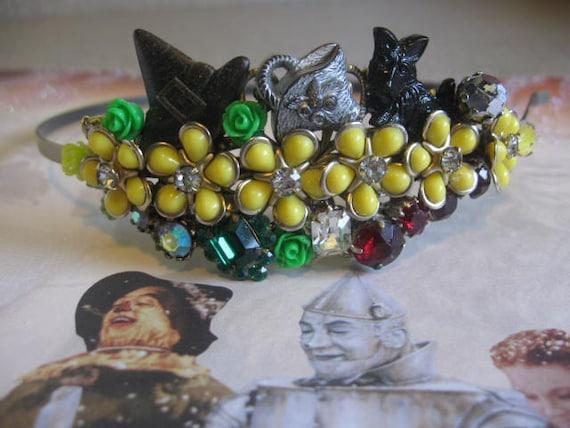 Follow the yellow brick road.vintage wizard of oz inspired jewelry headband