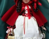 Little Red Riding Hood Porcelain Doll - Vintage