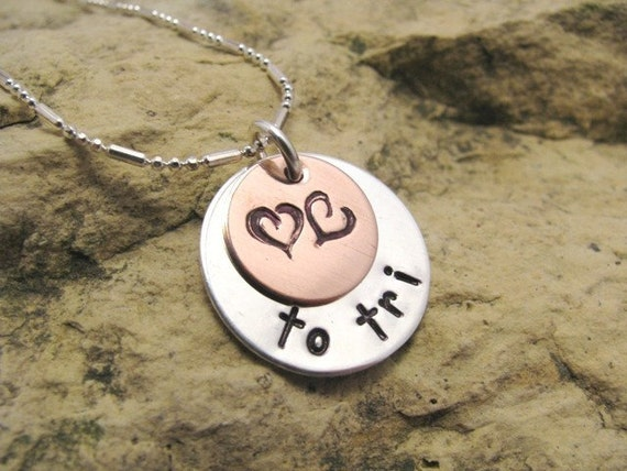 Love to... tri - triathlon pendant