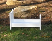 Solid wood Doll bed for amercian girl doll or18 in dolls could also be used for a newborn photography bed prop