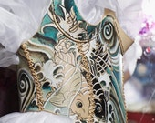Special Sale-Leather Tattoo Collection by Zahiras Boudoir - Painted Leather Body Armor Style Corset