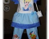Cinderella Boutique Disney Vacation Ruffled Appliqued Set With Mice