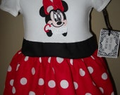 Sample Sale Minnie mouse Disney vacation dress size 12 mons.