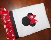 Minnie Mouse red polka dot custom made burp cloth new for baby mine by BBBB Kids