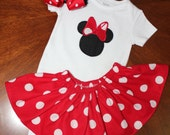 Minnie mouse baby onsie perfect for Disney for baby mine by BBBB Kids