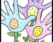 Spring Flower Garden Magnet By Thomas Buchanan Child Artist
