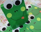 Frog Theme Birthday Party Favor Treat Sacks Goody Bags by jettabees on Etsy