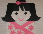 Asian Theme Treat Sacks - Japanese Doll Girl Cherry Blossom Birthday Party Favor Goody Bags by jettabees on Etsy
