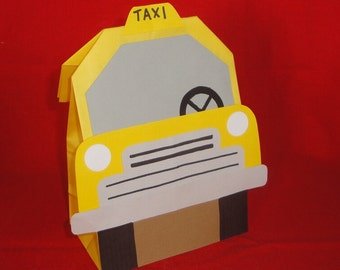 Taxi Theme Birthday Party Favor Treat Sacks Goody Bags by jettabees on Etsy