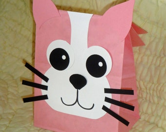 Cat Treat Sacks - Kitten Kitty Farm Pet Theme Birthday Party Favor Bags by jettabees on Etsy