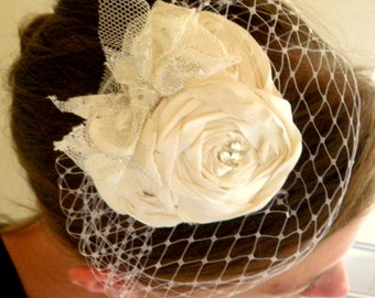 Emma pdf tutorial- how to make a vintage-style rosette fascinator with elegant French veiling