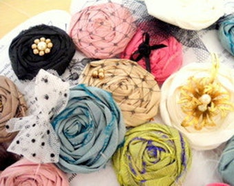 Pdf pattern rosette bobby pins and snap clips with embellishments
