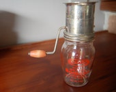 Vintage Glass Kraft Cheese Grater