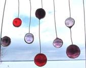 Purple Rain, Abstract Glass Mobile