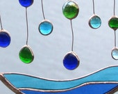 Bermuda Rain, Abstract Glass Mobile