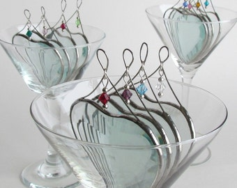 Custom Birthday Gift Heart Suncatchers Choice of Three Glass Crystal Birthstone Beads Stained Glass Heart Suncatchers Made in Canada