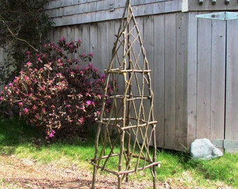 Rustic Garden Obelisk from Eco Friendly Bentwood Twigs