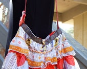 Ruffled Purse made from an upcycled child's skirt