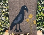 Raven Wool Pillow Pattern