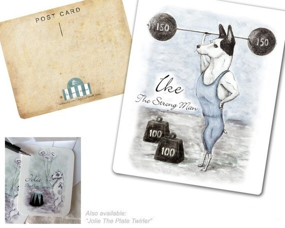 POSTCARDS - Ike the Strong Man - Dog