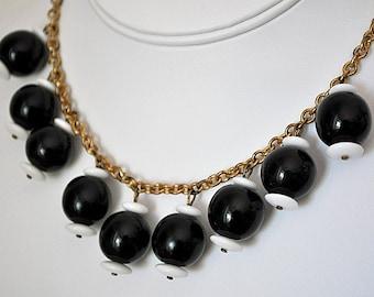 Vintage 1930s Glass Bauble Necklace