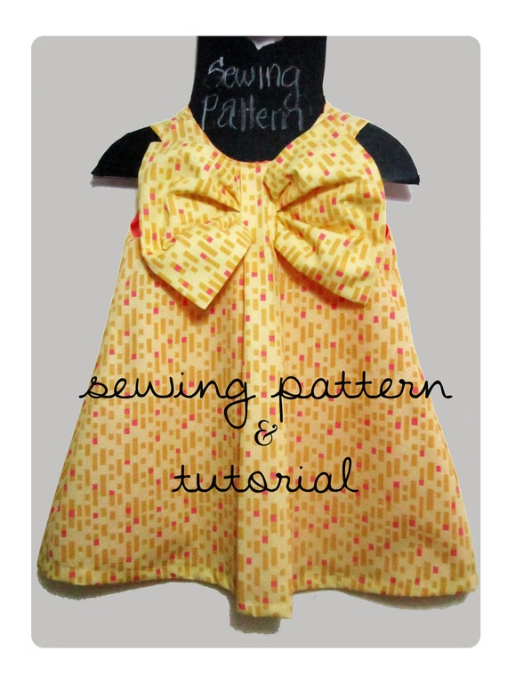 Pretty Bow dress- Sewing pattern