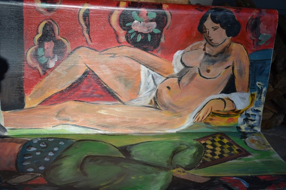 Hand Painted Vintage Matisse Church Pew