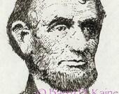Lincoln portrait print