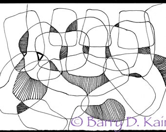 abstract line illustration v.163 print