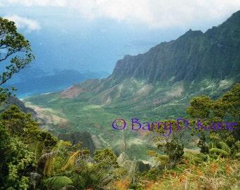 Napali Coast Kauai Hawaii Photo print