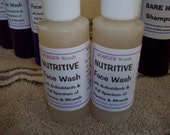 Nutritive Face Wash, ALL NATURAL, Loaded with Antioxidants, Vitamins, Minerals from Organic Green Tea and Roobios