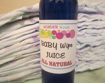 Concentrated ALL NATURAL Baby Wipe Juice, Just add water