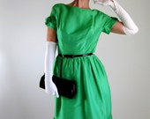 Sale- 1950s Dress. Green Clothing. Party Dress. Mad Men . Spring Fashion. Cocktail Dress. 1950s Formal Dress