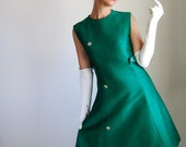 RESERVED for Karina--1960s Dress. Green. Cocktail Dress. Mad Men Office