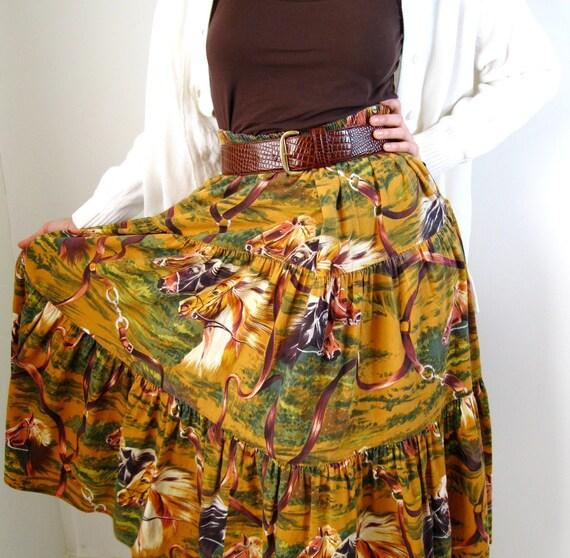 Horses Skirt Brown Southwest Equestrian Fall Fashion Woodland Autumn Clothing