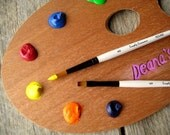 Personalized Painters Palette for Studio Door or Wall