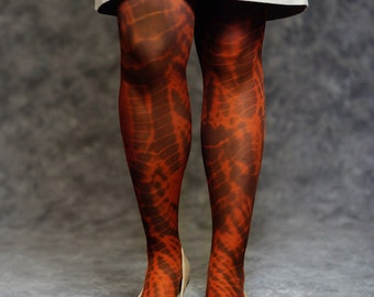 tie dye tight - orange and brown