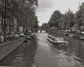 "Amsterdam, Black and White Photograph-Travel Photograph, 8"" x 10"" Original Signed Fine Art Photograph"