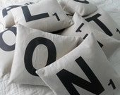 Any Three Scrabble Letter Cushions - Spell it out - Pillow Cases And Inserts