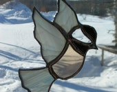 chick-a-dee, stained glass suncatcher