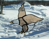 eagle, stained glass suncatcher