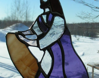 Jesus praying, stained glass suncatcher