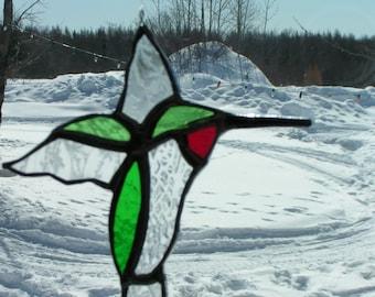 humming bird, stained glass suncatcher