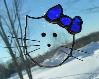 hello kitty stained glass suncatcher
