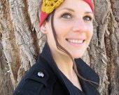 Golden Rose Cashmere Deep Red Headband
