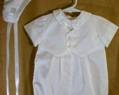 CHRISTENING VEST SUIT Newborn-baby  Boy's Romper