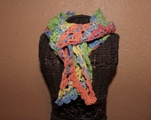 Colorful triangle strechy scarf