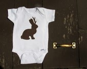 Jackalope Baby Shirt, Funny Baby Onesie, Western Clothes, Mythological Creature, Joke Gift, Baby Shower Present, Brown Bunny, Gifts under 25